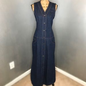 DKNY Jeans Dark Wash Denim Dress Size 10 $36